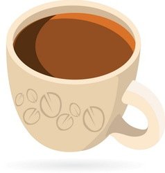 coffeee1 vector image vector image