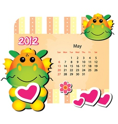may animal calendar vector image