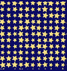 nice cartoon star pattern with different stars vector image