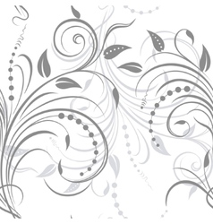 Swirling plant ornament vector image vector image