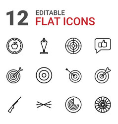 12 target icons vector