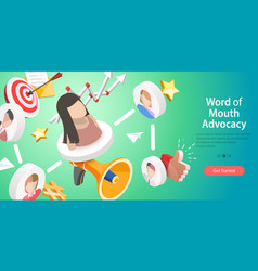 3d conceptual of word of mouth vector