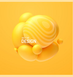 abstract composition with 3d spheres cluster vector image