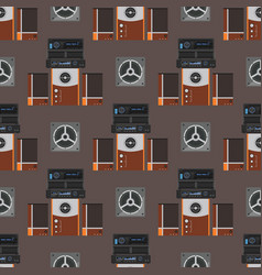 acoustic sound system stereo flat seamless vector image