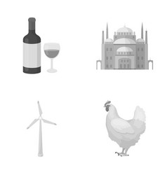 Alcohol religion and other monochrome icon in vector