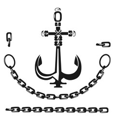 anchor with chain vector image