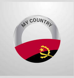 angola my country flag badge vector image