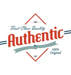 Authentic logo vector