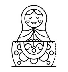 baby nesting girl icon outline style vector image