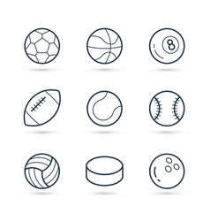 balls for sport icon pack vector image