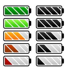 Battery life battery level indicators battery vector