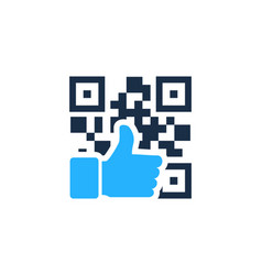 Best barcode logo icon design vector
