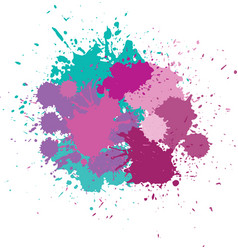 Blots in bright colors vector
