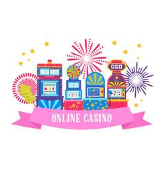 casino banner web design win vector image