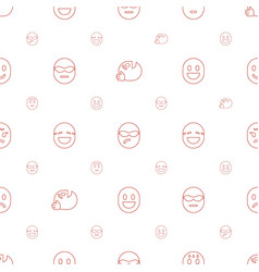 Cheerful icons pattern seamless white background vector