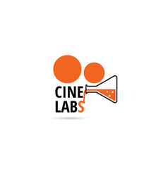 cinematography with labs logo symbol icon vector image