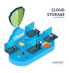 cloud storage concept isometric business vector image