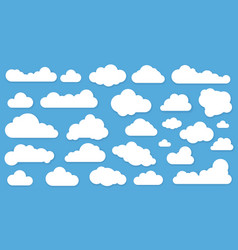 clouds in blue sky icon set vector image