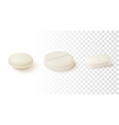 collection of oval round and capsule shaped vector image