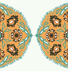 Colorful round floral border abstract background vector