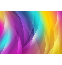 colorful shiny waves abstract background vector image