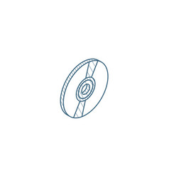 Compact disk cd isometric icon 3d line art vector
