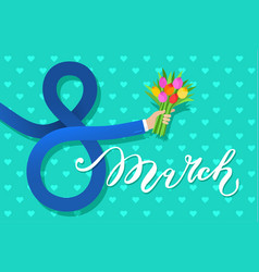 concept of 8 march congratulation vector image