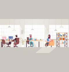 corporate staff employees working in creative co vector image