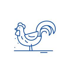 cute cock line icon concept cute cock flat vector image