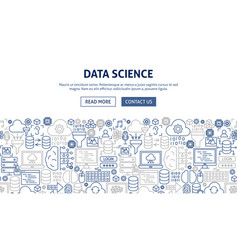 data science banner design vector image