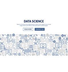 data science banner design vector image