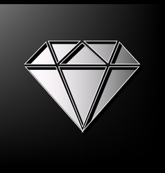 diamond sign gray 3d printed vector image