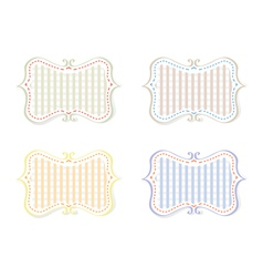 Different Color Retro Tags vector image