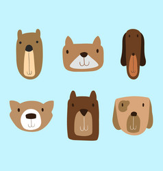 Dogs clipart set for commercial use vector