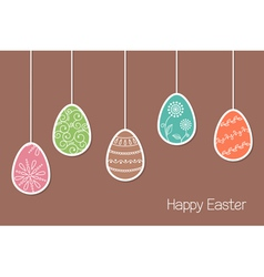 Easter eggs vector