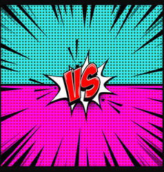 Empty comic book style background versus design vector