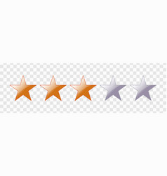 five star rating vector image