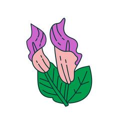 Flower leaf design template vector