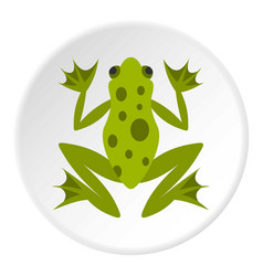 frog icon circle vector image