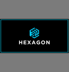 Fw hexagon logo design inspiration vector