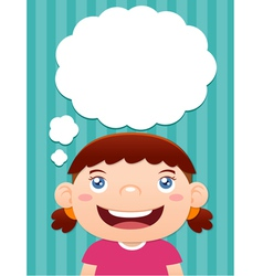Girl thinking vector image