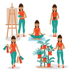 girlish hobby vector image