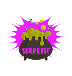 halloween surprise logo cartoon style vector image