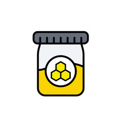 homey jar flat icon sign symbol vector image