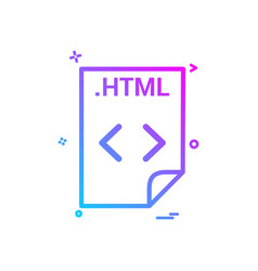 Html application download file files format icon vector