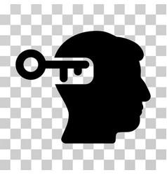 Intellect key icon vector