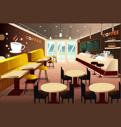 Interior of a modern coffee shop vector