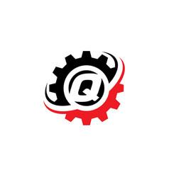 letter q gear logo design template vector image