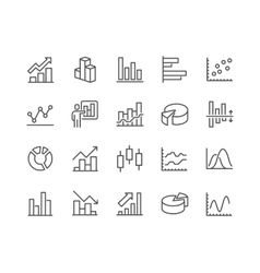 Line Graph Icons vector