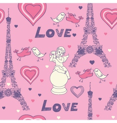 love in paris vector image